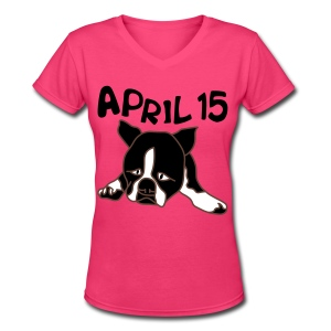 April 15 - Women's V-Neck T-Shirt