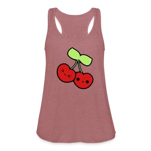 Kawaii Cherries Shirt - Women's Flowy Tank Top by Bella
