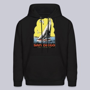 Retro San Diego Sailboat - Men's Hoodie