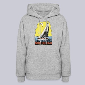 Retro San Diego Sailboat - Women's Hoodie