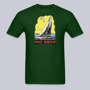Retro San Diego Sailboat - Men's T-Shirt