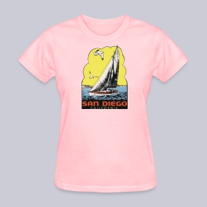 Retro San Diego Sailboat - Women's T-Shirt