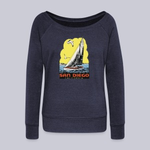 Retro San Diego Sailboat - Women's Wideneck Sweatshirt