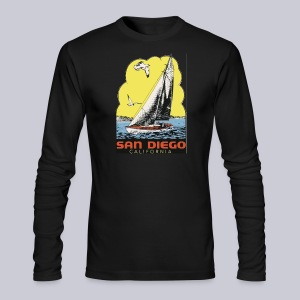 Retro San Diego Sailboat - Men's Long Sleeve T-Shirt by Next Level