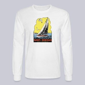Retro San Diego Sailboat - Men's Long Sleeve T-Shirt