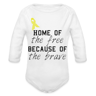 Baby Bodysuits ~ Baby Long Sleeve One Piece ~ Home of the free onsie