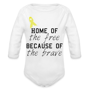 Home of the free onsie - Long Sleeve Baby Bodysuit