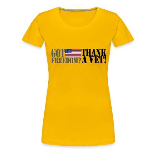 Thank A Vet- Women's - Women's Premium T-Shirt