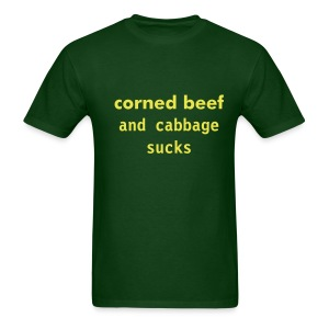 Corned Beef And Cabbage... - Men's T-Shirt