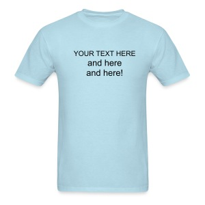 Your text here Mens blue - Men's T-Shirt