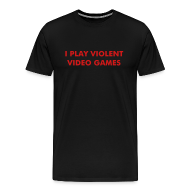 T-Shirts ~ Men's Premium T-Shirt ~ Violent Video Games