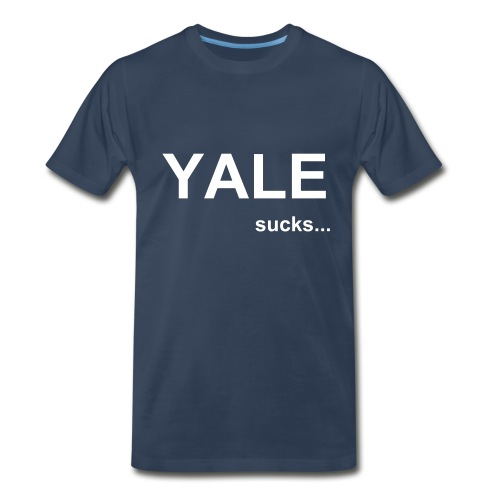 Yale sucks! - Men's Premium T-Shirt