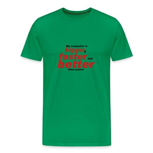 Green Computer Tee - Men's Premium T-Shirt
