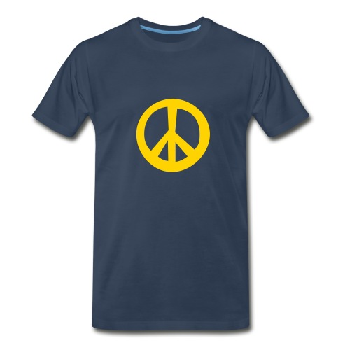 Navy Peace Tee - Men's Premium T-Shirt