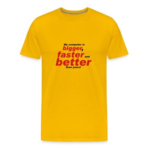 Yellow Computer Tee - Men's Premium T-Shirt