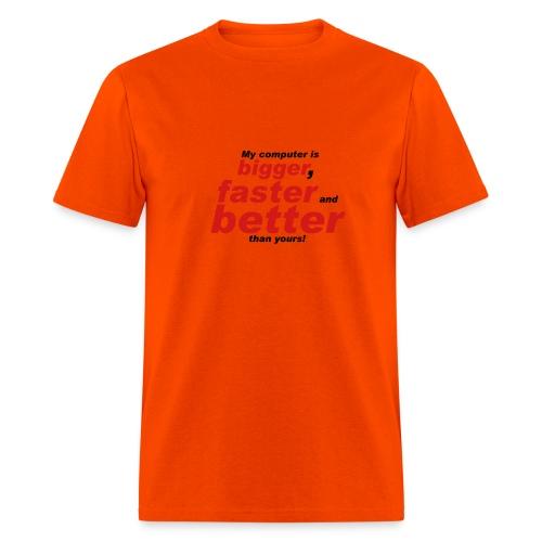 Orange Computer Tee - Men's T-Shirt