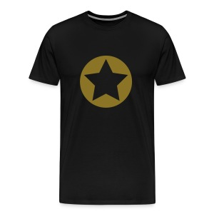 Black Star Shirt w/Gold - Men's Premium T-Shirt