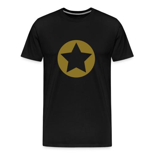 Black Star Shirt w/Gold - Men's Premium T-Shirt