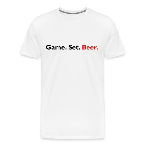 Game. Set. Beer. (white) - Men's Premium T-Shirt