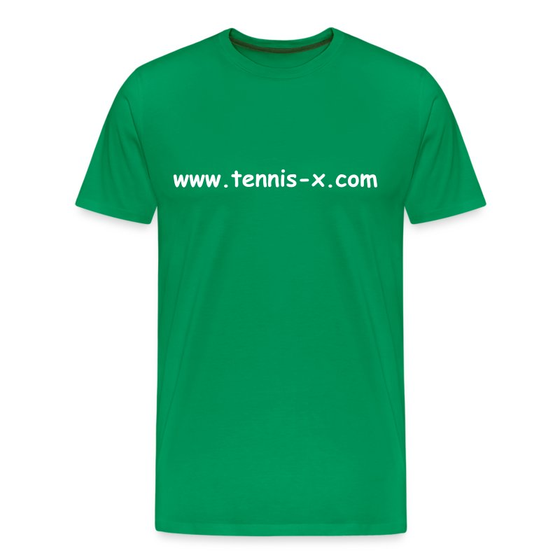 Tennis-X.com (green) - Men's Premium T-Shirt