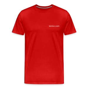 Tennis-X.com (red) - Men's Premium T-Shirt