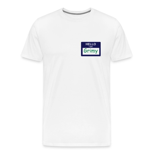 Grimy (green on navy blue) - Men's Premium T-Shirt