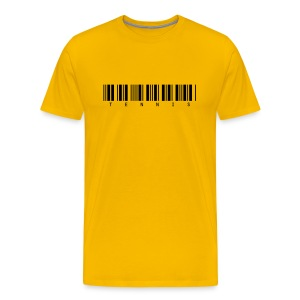 Barcode (yellow) - Men's Premium T-Shirt