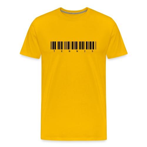 Barcode (yellow) - Men's Premium T-Shirt