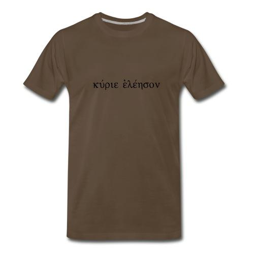 Kyrie Eleison (Flock Black) - Men's Premium T-Shirt