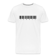 T-Shirts ~ Men's Premium T-Shirt ~ Barcode (white)