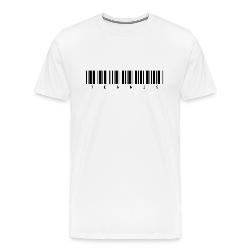 Barcode (white) - Men's Premium T-Shirt