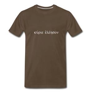 Kyrie Eleison (Flock White) - Men's Premium T-Shirt