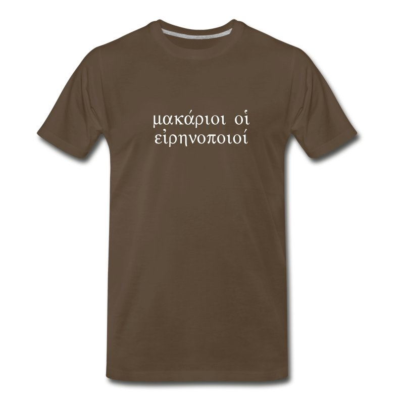 Blessed are the Peacemakers (Brown Tee) - Men's Premium T-Shirt