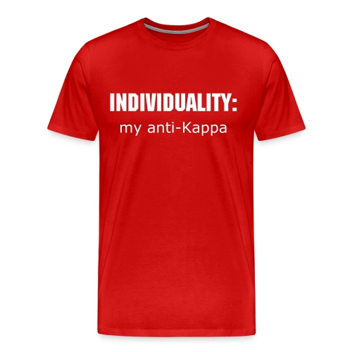 anti-kappa white - Men's Premium T-Shirt