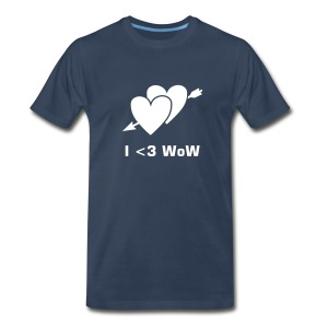 I *heart* WoW (blue) - Men's Premium T-Shirt