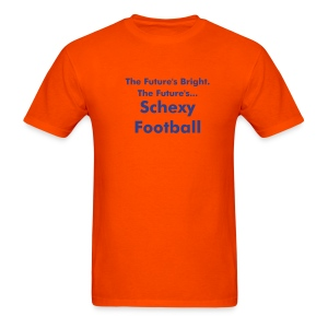 Schexy Football (Orange\Blue) - Men's T-Shirt
