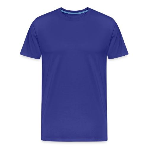 Blue Cotton Shirt - Men's Premium T-Shirt