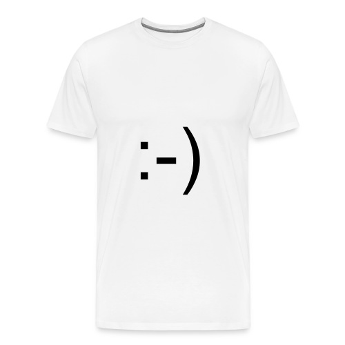 Smile Emoticon White T-Shirt - Men's Premium T-Shirt