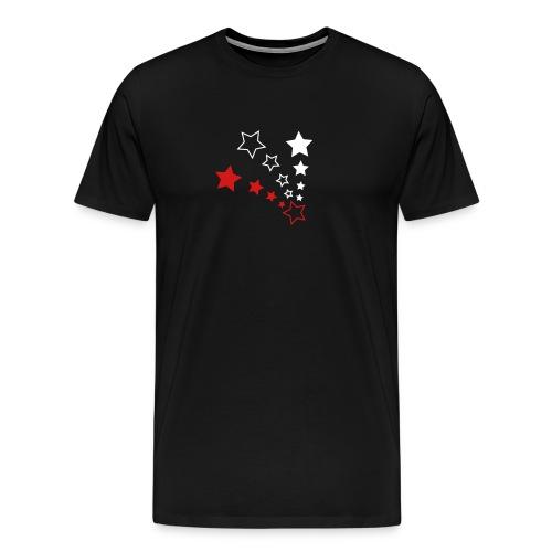 Men's Premium T-Shirt - Black, Red/White Starbow