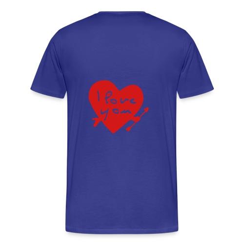 i love you t-shirt - Men's Premium T-Shirt