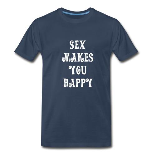 Sex does seem to make people happy - Men's Premium T-Shirt