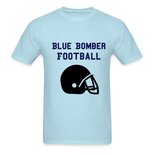 Blue Bomber Football Tee - Men's T-Shirt