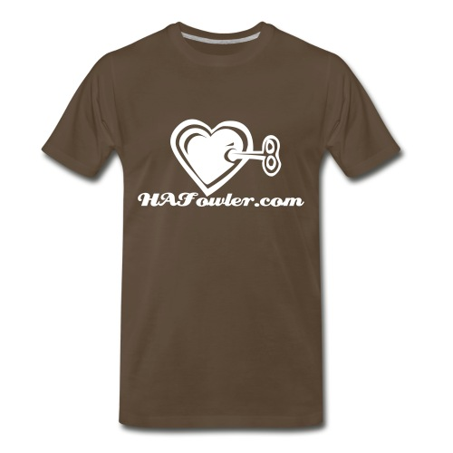 HAFowler.com XXXL Chocolate Tee! - Men's Premium T-Shirt