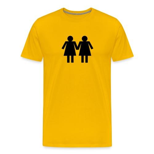 Girl Couple - Men's Premium T-Shirt