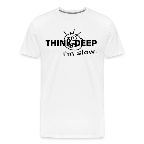 Comical Think Deep T-Shirt - Men's Premium T-Shirt