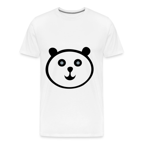 White, Happy Panda Shirt - Men's Premium T-Shirt