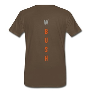 Backbone (back- W Bush) - Men's Premium T-Shirt