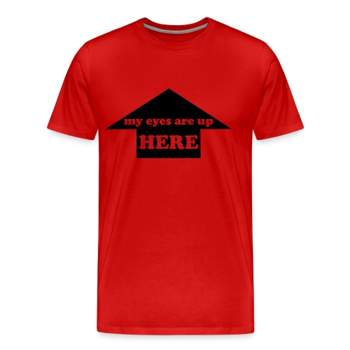 don't look there - Men's Premium T-Shirt