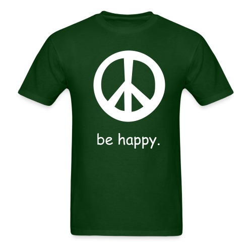 be happy(forest) - Men's T-Shirt