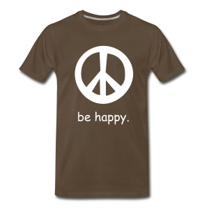 be happy(brown) - Men's Premium T-Shirt